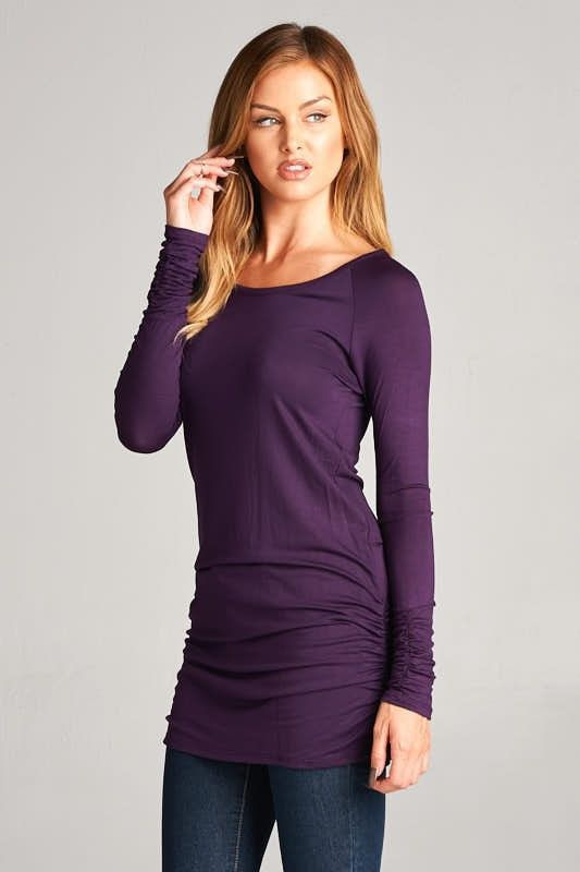 Long Sleeve Fitted Tops