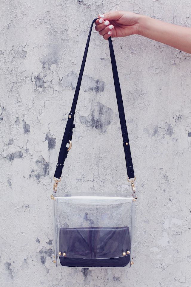 DIY Transparent Satchel - watch the video and buy the kit at www.wanderandhunt.com @Marianne Glass dowsett & Hunt