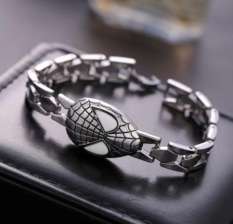 Spiderman Unisex Silver Bracelet - The Cynical Clique - 1