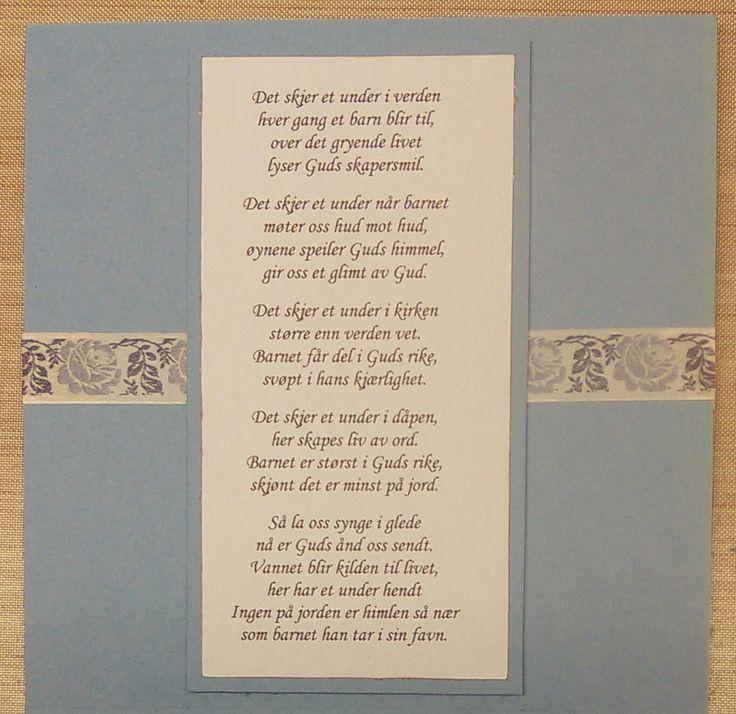 Mi kreative verd Salme 591. Med små justeringar, for å få plass ;)