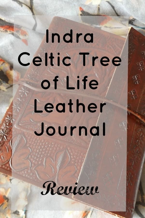Indra Celtic Tree of Life Leather Journal   Review - Coffee, Cake, Kids