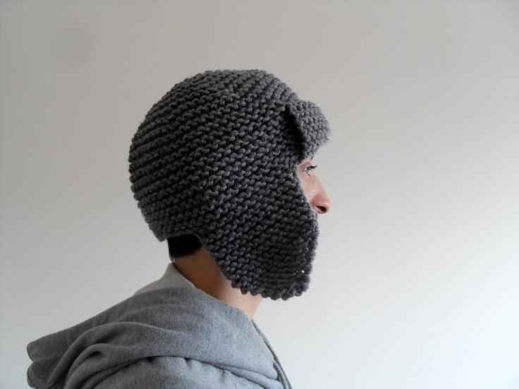 hand-knit wool + acrylic hat