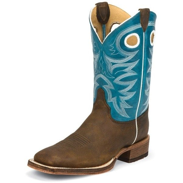 Justin Boots Men's Copper Rough Rider Bent Rail® Boots With Bright... ($215) ❤ liked on Polyvore featuring men's fashion, men's shoes, men's boots, men's work boots, mens western work boots, mens work boots, mens tall boots, mens cowboy boots and mens tall cowboy boots