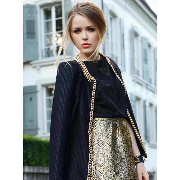 GOLD ON BLACK Kayture found on Polyvore #kazar #inspiracja