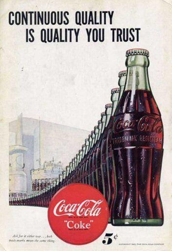 Coca Cola poster vintage - 100casa