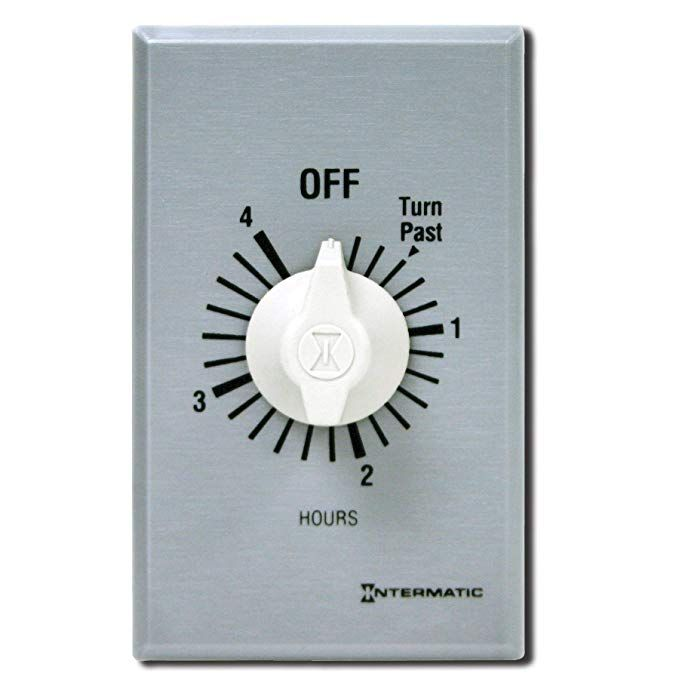Intermatic Ff4h 4 Hour Spring Loaded Wall Timer Brushed Metal Review Timer Countdown Timer Brushed Metal