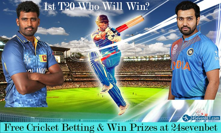 1st T20 Match #INDvsSL. Predict Who Will #Win 1st T20 Match? Place Free Bet on your Favourite Team & Win Lots of Amazing #Prizes online at India's Top Cricket #Betting Site 24sevenbet