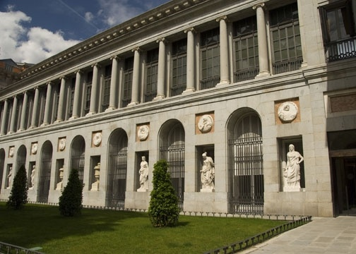 Prado Museum Madrid, Spain. Facade.