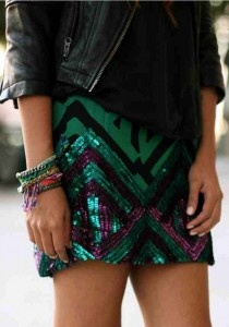 Sparkling and TribalFashion, Style, Sequins Skirts, Clothing, Dresses, Saia Mini-Sequins, Leather Jackets, Friendship Bracelets, Dreams Closets