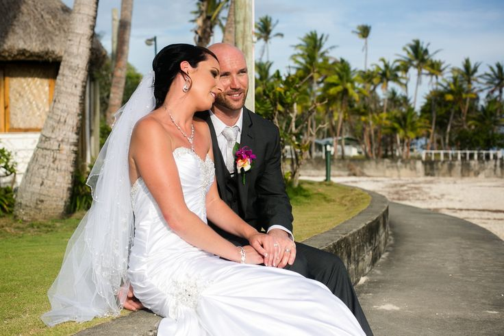 Outrigger Fiji Beach Resort Wedding Palms Seaside Ocean Tropical Garden Photography Groom Bride Ideas Planning Planner Style Design Veil Tuxedo
