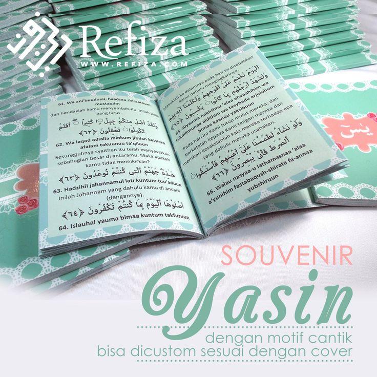 Buku Yasin Refiza, bisa custom cover dan halaman sesuai keinginan. BBM : 5AA4369C  WA : +6289602038805  TELP : (031)51503781