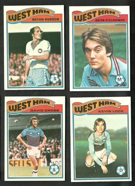 WEST HAM UNITED - TOPPS FOOTBALLERS 1978