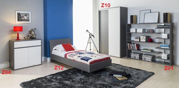 Młodzieżowa sypialnia z kolekcji Zonda