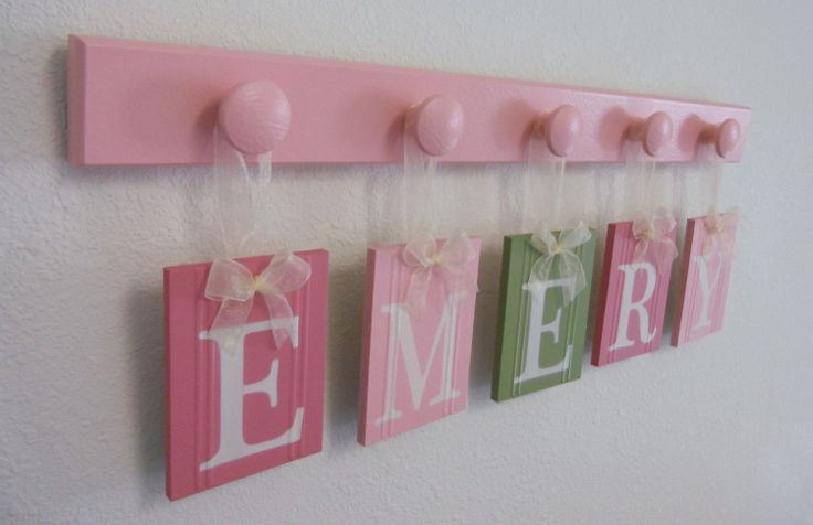 Painted Baby Name Letters