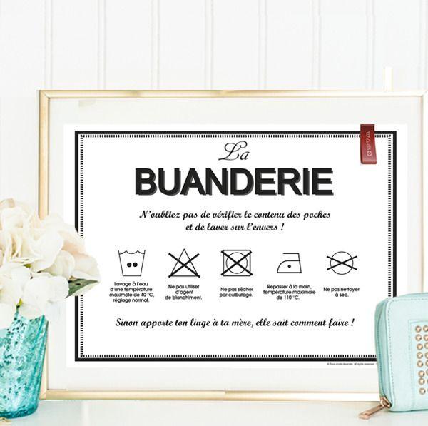 Affiche La Buanderie 2 - à télécharger, à imprimer : Autres mode homme par affiche-rgb4you