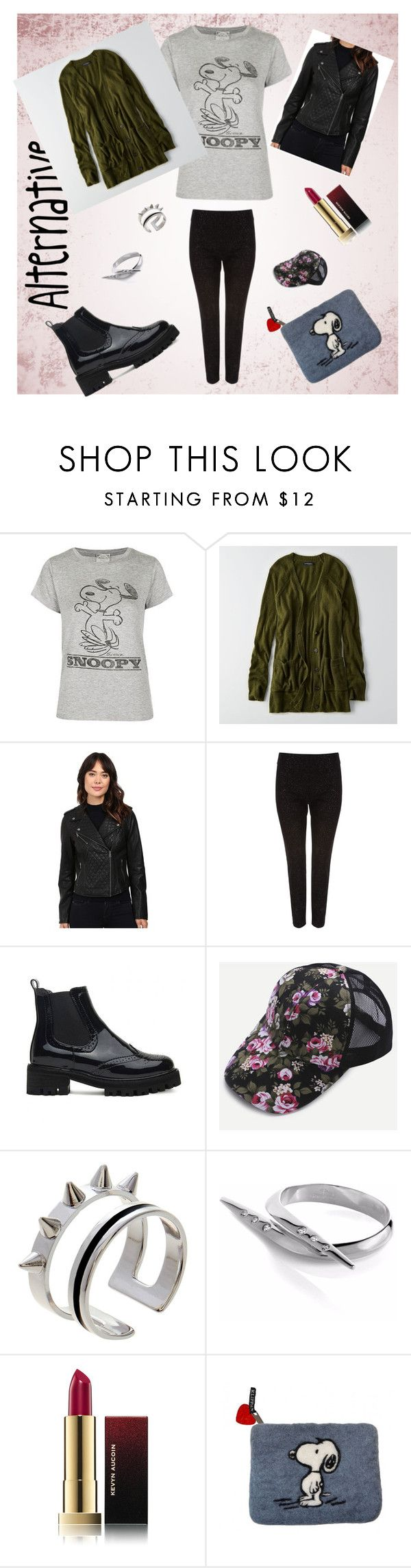 """Alternative"" by beatefeick ❤ liked on Polyvore featuring Topshop, American Eagle Outfitters, Levi's, Phase Eight, Maria Francesca Pepe, Sonal Bhaskaran, Kevyn Aucoin, Klippan, Leather and floralprint"