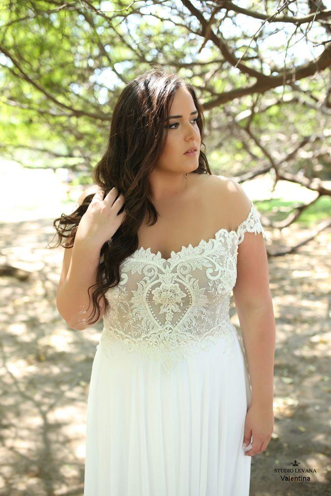 Beach Plus Size Boho Wedding Dress