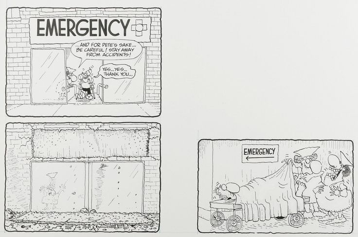 Don Duck Edwing - Mad 280 EC 1988 -Tales of the Duck Side Dept - final section of Don Duck Edwing -Duck Edwing Rushes Into the Emergency Room a.jpg (1000×662)