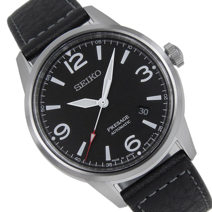 Sports Watch Store - Seiko Presage SRPB67J1 SRPB67J Analog Black Leather Bracelet Date Male Dress Watches, $216.00 (https://www.sports-watch-store.com/seiko-presage-srpb67j1-srpb67j-analog-black-leather-bracelet-date-male-dress-watches/)