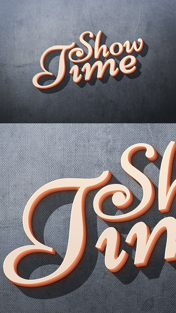 ShowTime Photoshop Text Effect... - Free 3D Text Effect PSD