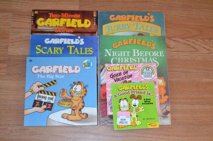 Garfield Picture Book lot of 7, Cartoon, Children's, School, Learning