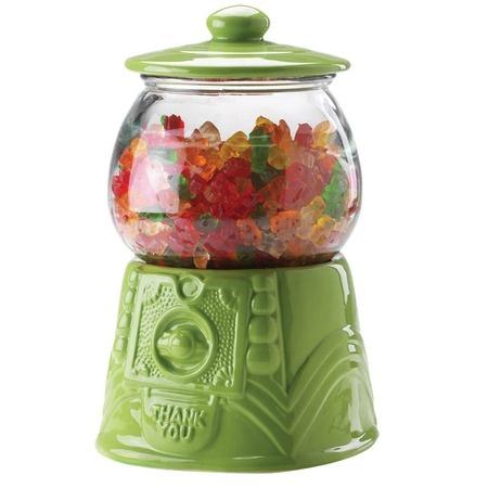 'Bubblegum Machine' Style Jar in Green.
