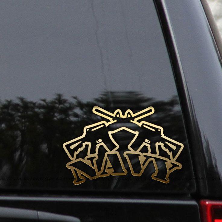 Us navy decal sticker veteran military ar15 guns car truck window laptop bumper