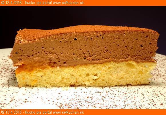 Piškótová torta s dokonalou čokoládovou penou bez kúska masla, či oleja.