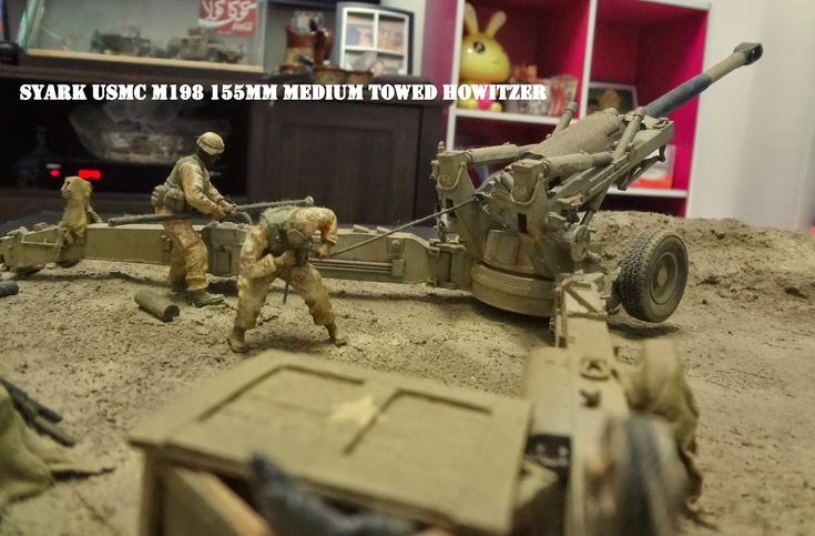 1/35 Diorama Iraqi Freedom Scene Fire Base Trumpeter USMC M198 155mm Medium Towed Howitzer (Early Version) Hap...