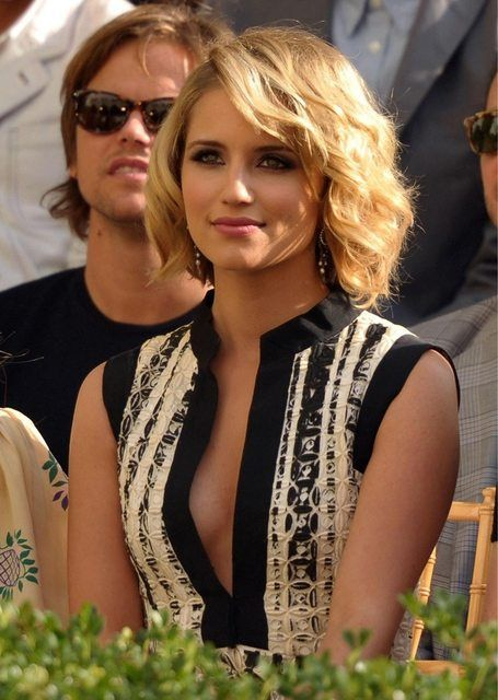 Dianna Agron...love her hair and whole look