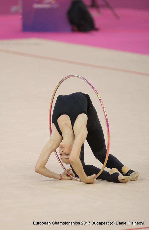 Olena Diachenko (Ukraine), backstage European Championships (Budapest) 2017