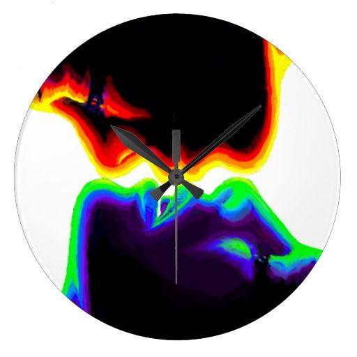 The kiss large clock