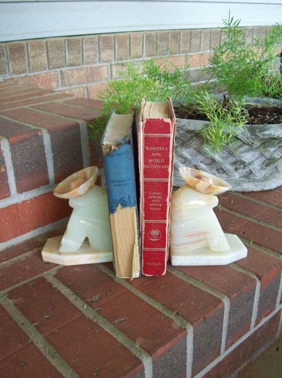 Vintage Tex Mex Decor Agate Bookends Southwestern by misshettie, $35.00