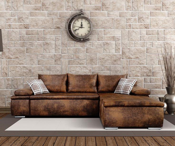 ecksofa cariba 275x180 braun vintage ottomane variabel m bel sofas ecksofas in 2020 ecksofas