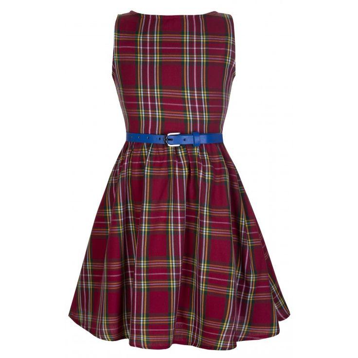 Červené Dívčí Retro Šaty Blanka Straka Lindy Bop