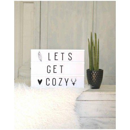 """""""Light Box"""" personnalisable GM, veilleuse, idée cadeau, interieur cosy, cosy, cocoon, hiver, cold, lets get cozy, nanelle"""
