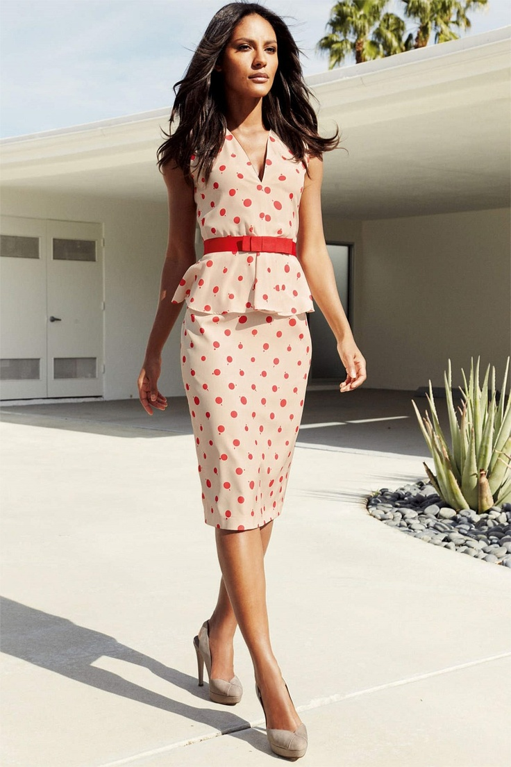 121 best office work ii images on pinterest business for Peplum dresses for wedding guest