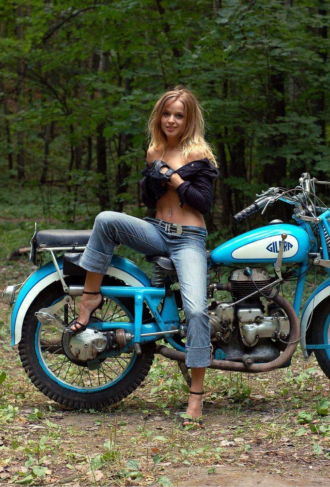 Motographite Lizel Azul Gilera Motor Girls Motorcycle