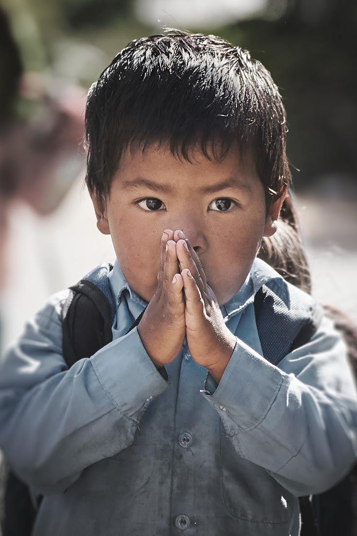 Nepalese boy #nepal #travel #portrait #child