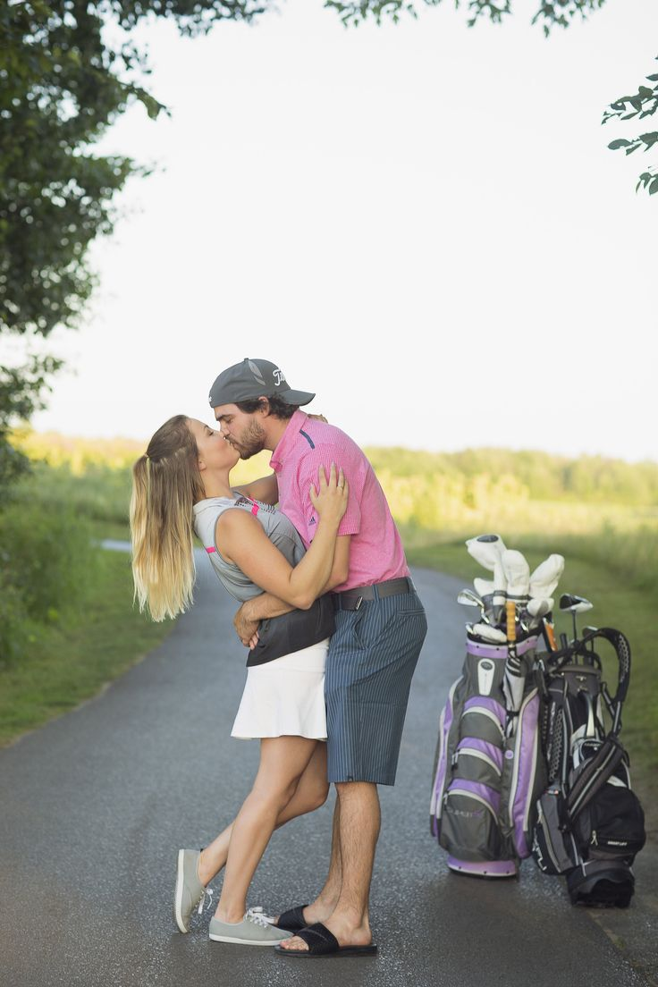 Golf Engagement Photos
