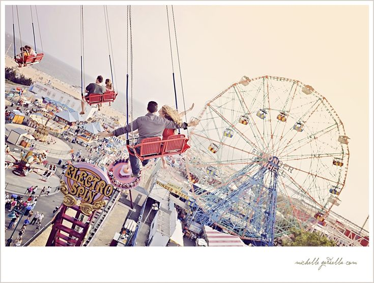 This is probably my favorite Coney Island shoot I've seen. The photographer went on the rides with them, they played games, and there are some gorgeous beach shots.