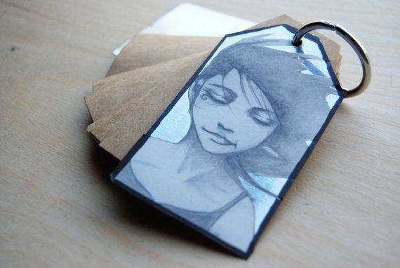 Gift tag notebook with binder ring and print by WAIQ on Etsy