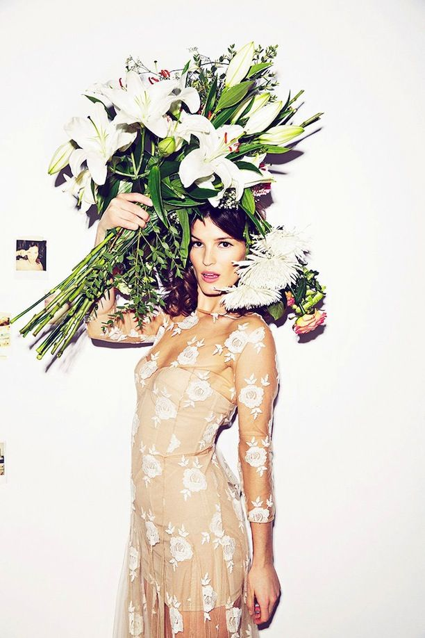 Hanneli Mustaparta Woman Madame Figaro Editorial March 2014 #Flowers