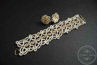 Komplet biżuterii frywolitkowej  / Tatted set of jewelry
