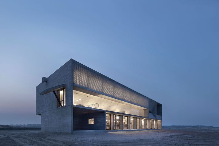 The Seashore Library in Beidaihe New District, a coastal region in eastern China. Photo by Hal Chen © Vector Architects.