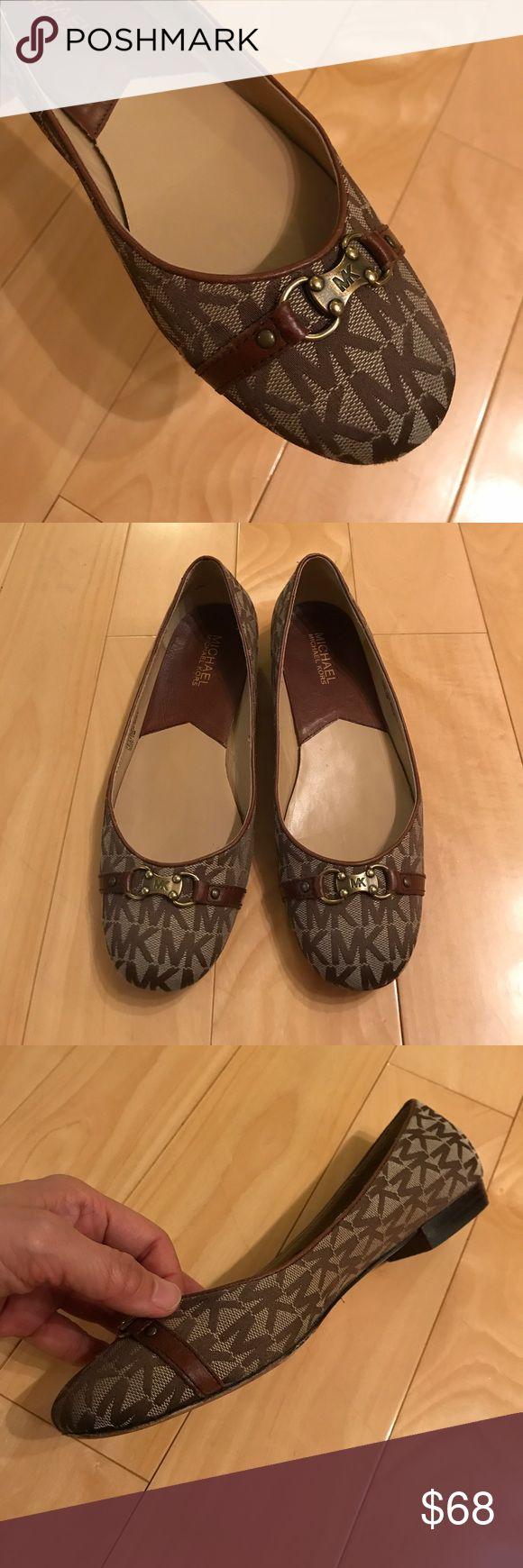 Michael Kors flats EUC Michael Kors Cara Ballet flats, with original box, very clean inside, worn a couple times. Michael Kors Shoes Flats & Loafers