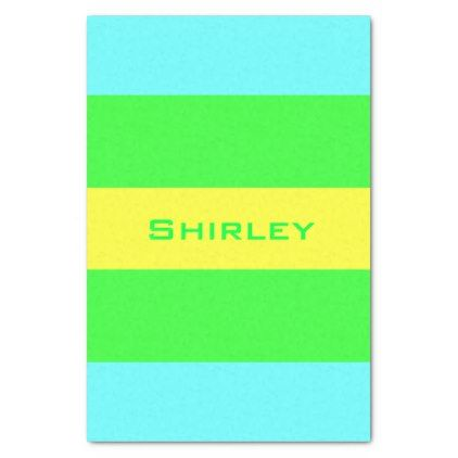 Yellow Green Blue Wide Stripes by Shirley Taylor Tissue Paper - pattern sample design template diy cyo customize