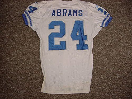 Kevin-Abrams-Detroit-Lions-White-Reebok-Game-Worn-