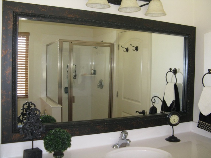 Framing A Bathroom Mirror Before And After 11 best frames for existing mirrors images on pinterest | bathroom