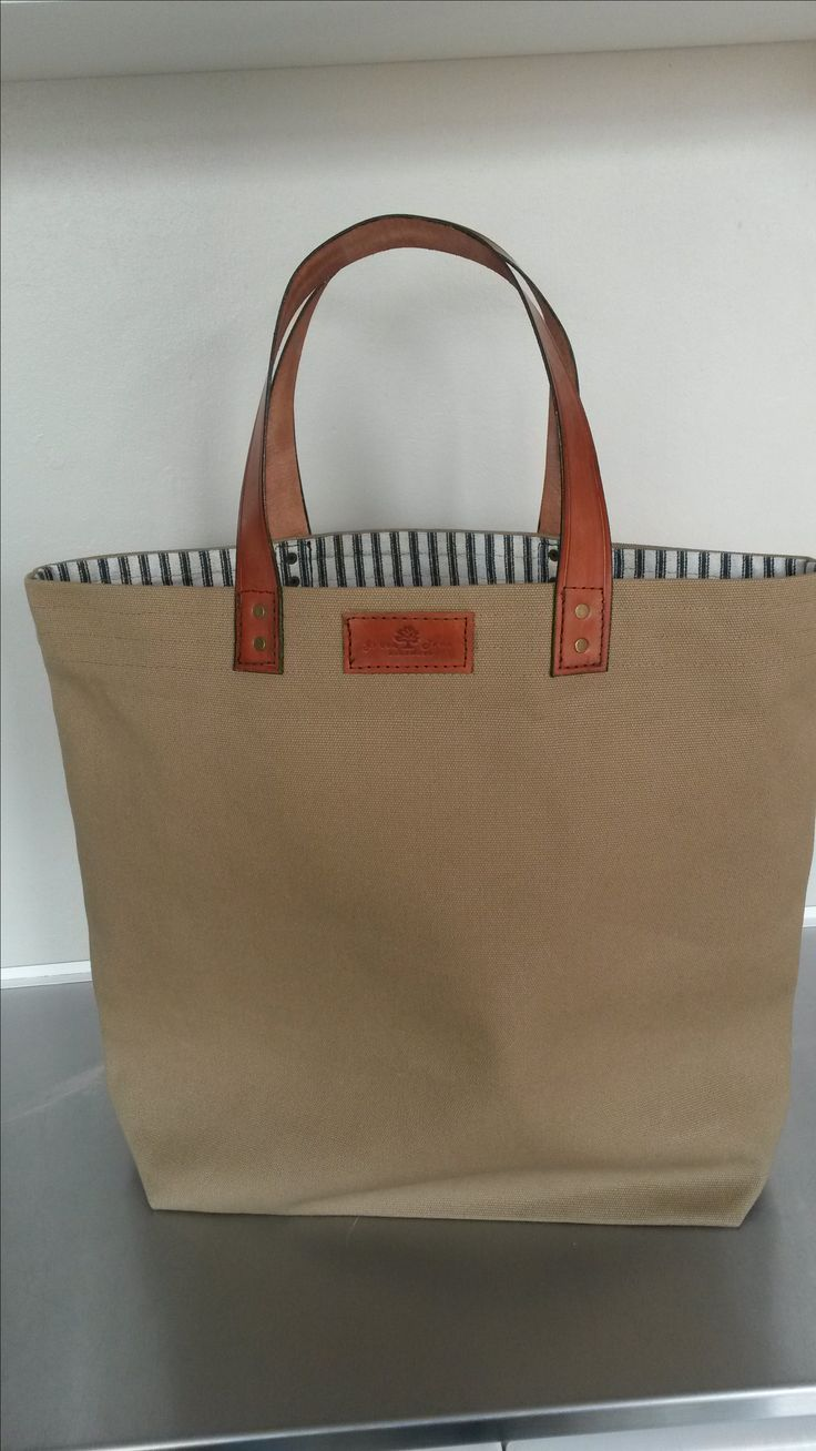 Canvas/ leather Tote bag